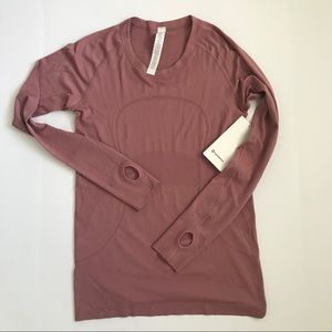 Lululemon Swiftly Tech LS Crew QUSD Pink Size 10